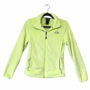The North Face Lime Green Fleece Zip Up Jacket